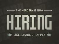 Nerdery Now Hiring Facebook image