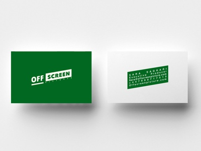 Off Screen Pictures Business Card Design logotype illustration business card design logo design branding visual identity brand identity