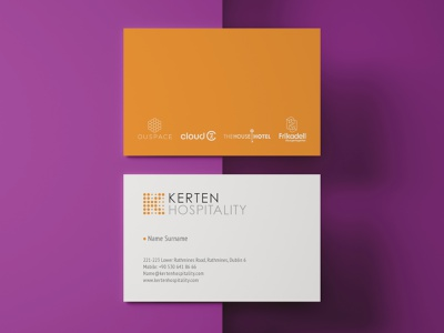 Kerten Hospitality Business Card Design stationary stationary design logo business card business card design visual identity branding brand identity