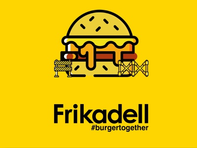 Frikadell Gourmet Burger Illustrations brand elements design instagram post illustration visual identity brand identity