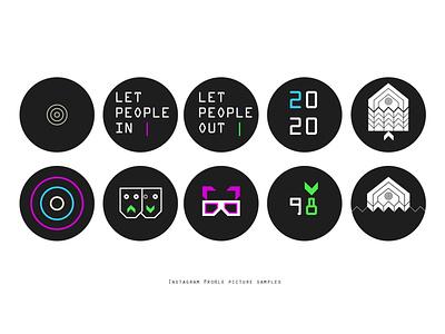 3fish IG Profile Picture Samples iconography branding illustraion design inspiration social media design brand identity visual identity profile pic motifs