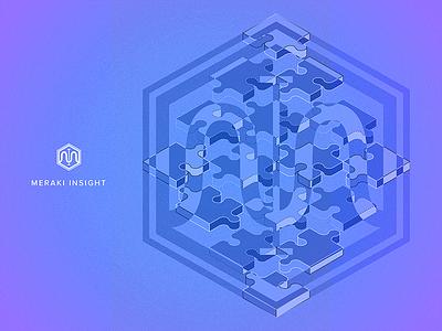 Meraki Insight network design cosine sine puzzle branding insight analytics
