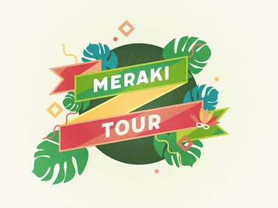 Meraki Tour confetti circle ribbon festival festive tropical carnaval
