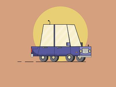 zazozaa(car) vector illustration illustrations illustrator motion vectorart vector wheels glass sun flat design color flat illustration flat  design cartoon car