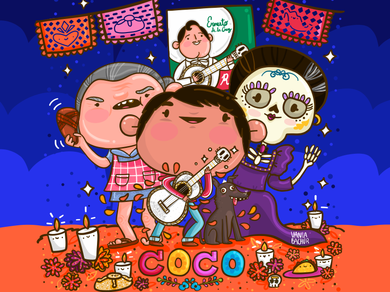I Teamed Up With Disney Pixar To Create This Drawing For The Upcoming Film Coco 3