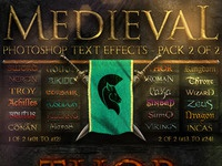 Medieval Photoshop Text Effects 2of2 by Eliçabe | Dribbble | Dribbble