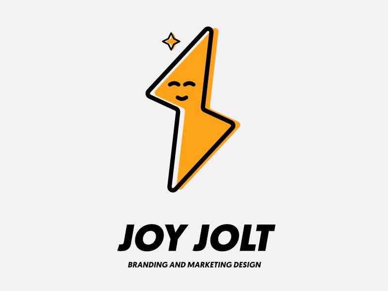 Joy Jolt Identity Design marketing fun energetic yellow brand identity brand design branding logo design logo