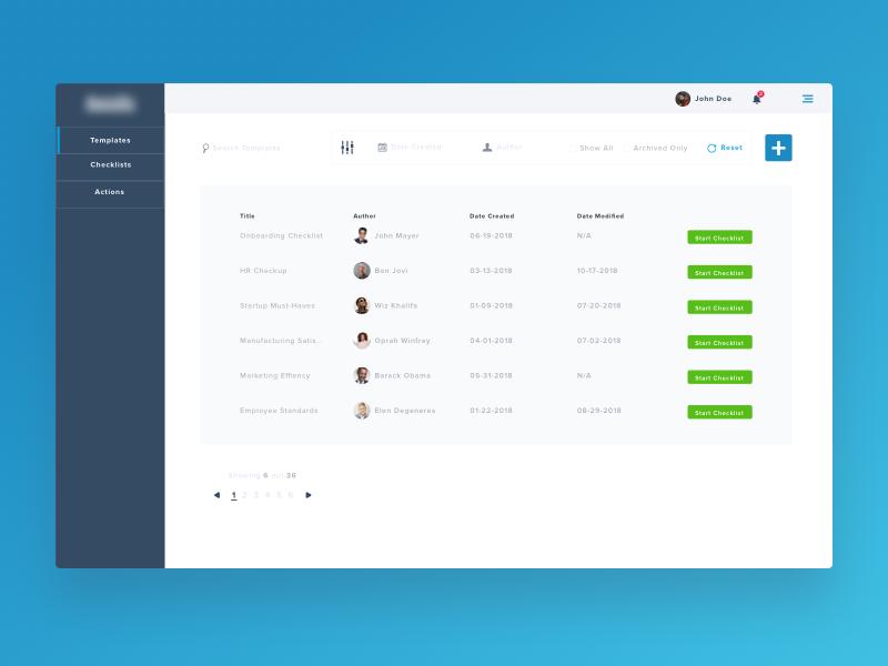 Checklist Dashboard template-list dashboard audit checklist product design web design ui ux