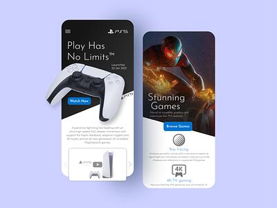 PS5 UI Concept minimal white spider-man fresh clean app design ui design modern ps5