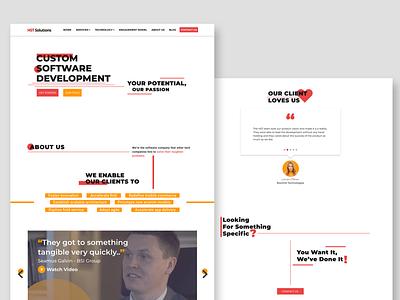 IT Software Website Design it minimal fresh clean technology fresh colors ui design modern