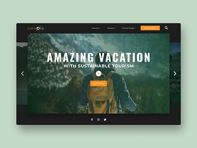 Website Design | Travel Vacation inspiration dark adventure travel travel website website design web design design modern