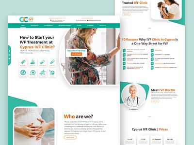 Website Landing Page Design - IVF Clinic website inspiration modern health medical clinic website design landing page