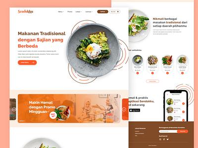 Food Website Design delivery food clean ui ui inspiration inspiration website inspiration web design website design fresh colors modern ui design