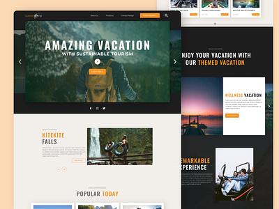Trip Vacation Website Design trip vacation ui inspiration dark ui website inspiration ui design inspiration modern website design web design