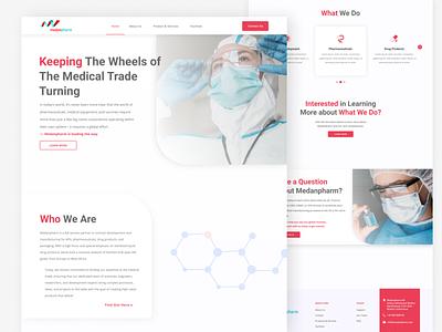 Medical Website Design landing page clean medical company pharmacy medical website medical clean ui website inspiration web design inspiration website design modern