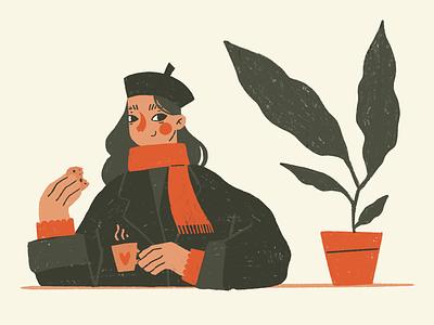 autumn coffee illustration animation