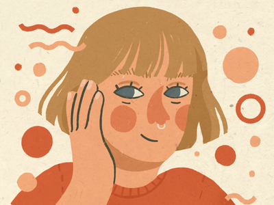 girl. illustration portrait texture