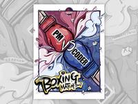 Illustration Design For Boxing Match
