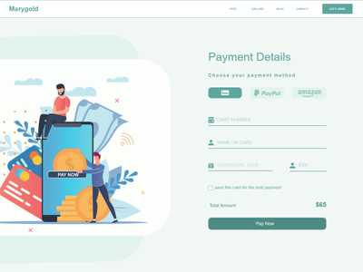 Daily UI Challenge #02 | Credit Card Checkout web vector ui ux design