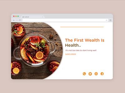 food web website typography logo web photoshop inspiration adobe xd ux ui design