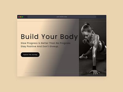 landing page for fitness website website web inspiration adobe xd ux ui design