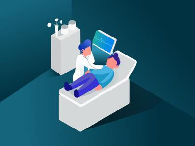 Medical Check-up Illustration medical illustration health web work character flat ui design illustration dribbble medical care check-up medical