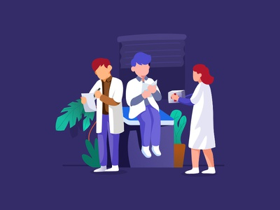 medical illustration medical character flat ui design dribbble illustration