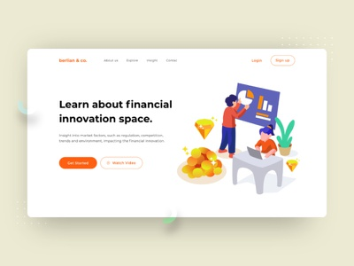 Finance Innovation flat dribbble design ui interface economy illustration graphic growth currency banking bank financial vector money finance business