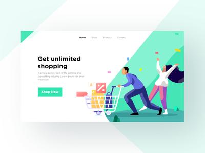 Unlimited Shopping illustration