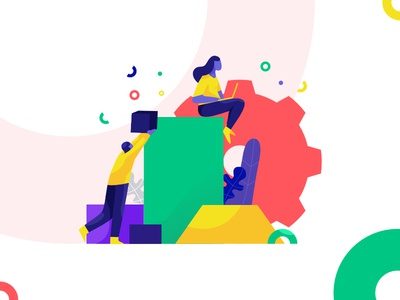 creative work | illustration isometric vector charachter flat dribbble ui design illustration creative design color work creative