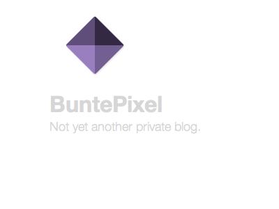 Logo for BuntePixel.org 07/2013 logo simple flat pixel purple square