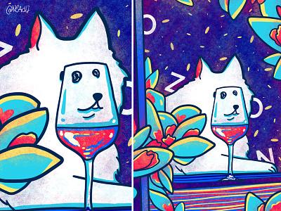 Samoyed dog meme vine samoyed dog meme design animals illustration