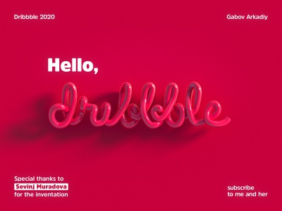 subscribe to https://dribbble.com/Mouradova pink glossy design colors 3d