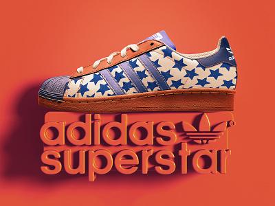 Adidas superstar presentation branding illustration adidas originals design 3d