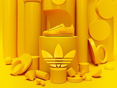 Adidas superstar presentation branding illustration colors adidas originals design 3d