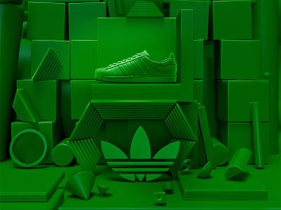 Adidas superstar presentation color branding illustration colors adidas originals design 3d