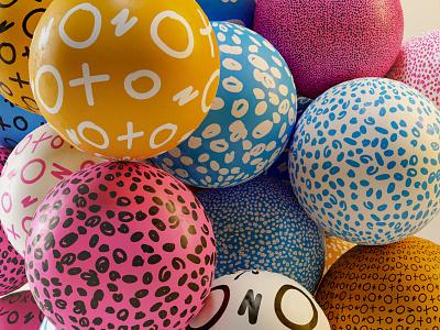 Patterned BALLS color geometric illustration colors design 3d