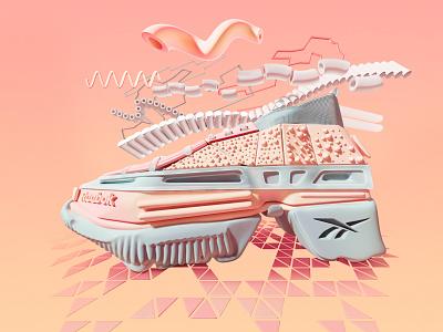 Reebok classic design concept style fashion sneaker reebok classic illustration colors design 3d