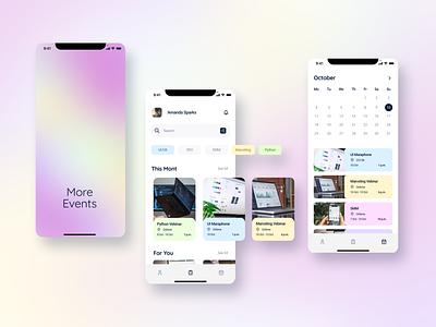 """UI/UX concept """"More Event"""" design ux ui ios"""