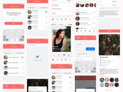 Dating App ui design dating app ux user inteface user experience design ui design clean ui