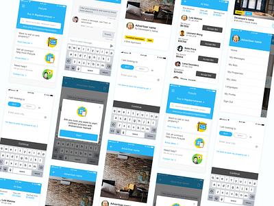 Real Estate Customer - Broker App real estate app app menu design drawer menu ui design ux user inteface user experience design ui design clean ui