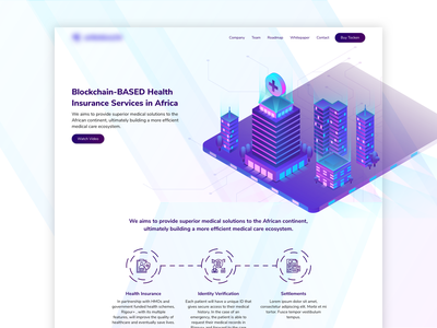 Blockchain-Based Health Insurance Website ui design clean ui website design medical health insurance blockchain