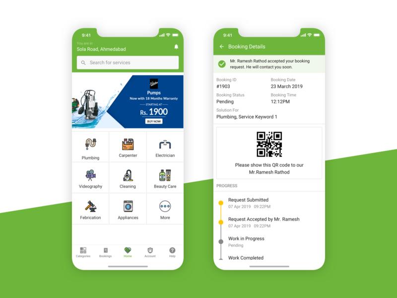On-Demand Service App UI
