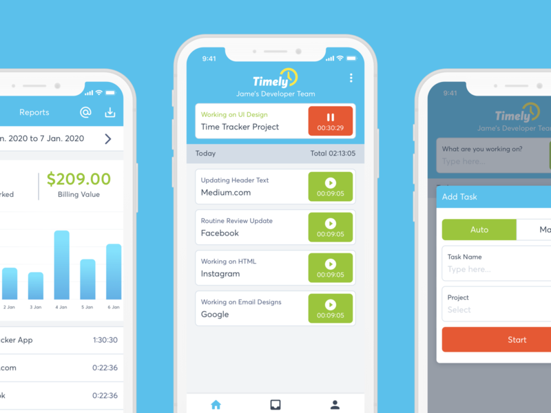 Time Tracking App UI Design user inteface ui design ui design user experience design iphone app iphone x time management time tracker mobile app ui ux design app ui design app ui mobile app ui design uiux mobile app ui clean ui