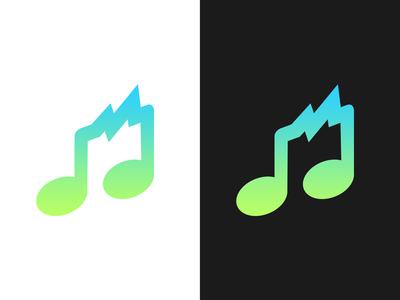 Social Music App Logo Concept