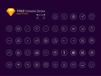 Free Editable Stroke Icon Set