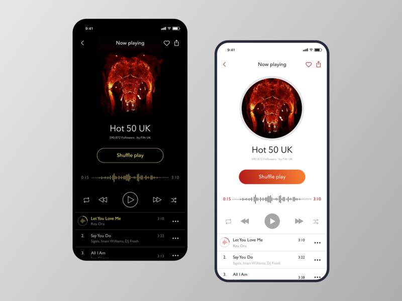 Music Player music player ui music player app music player user experience mobile design visual design design process graphic design inspiration illustration design technique
