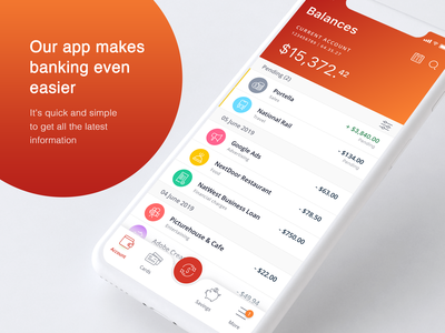 Banking and accounting for business app