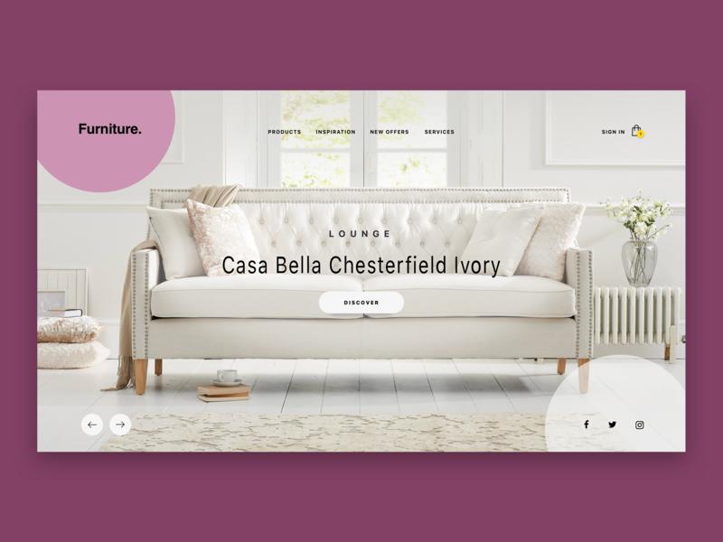 Furniture Ecommerce website design website concept website ecommerce design ecommerce user experience design visual design design process graphic design inspiration illustration design technique