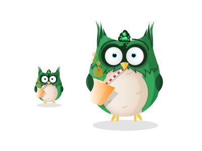 Character Green - need a  Name ? vector illustrator illustration character design wacom owl